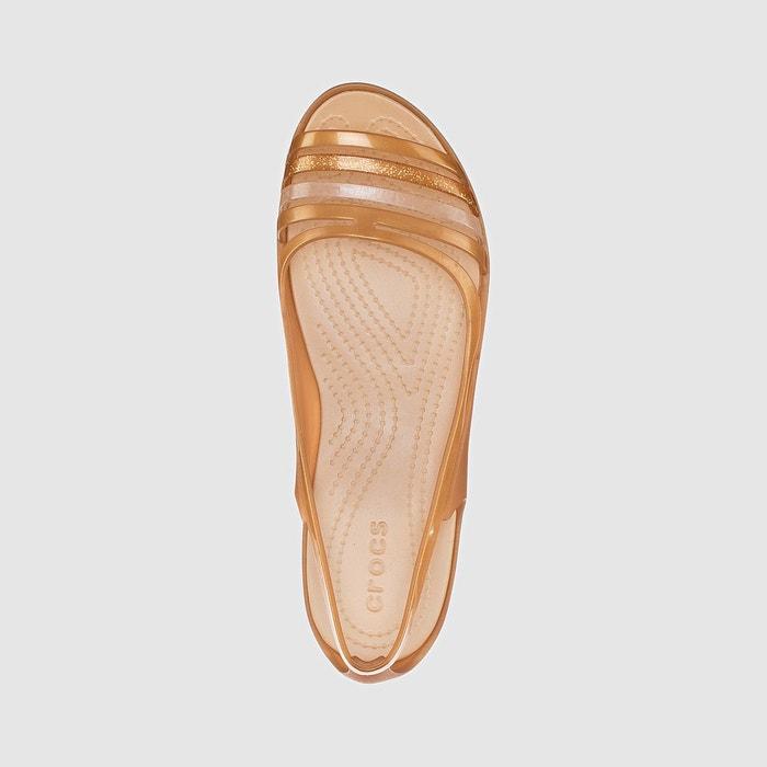 Crocs - crocs isabella flat sandal w bronze Crocs