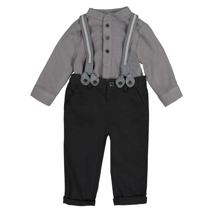 Ensemble fête pantalon et chemise 3 mois - 3 ans  La Redoute Collections image 0
