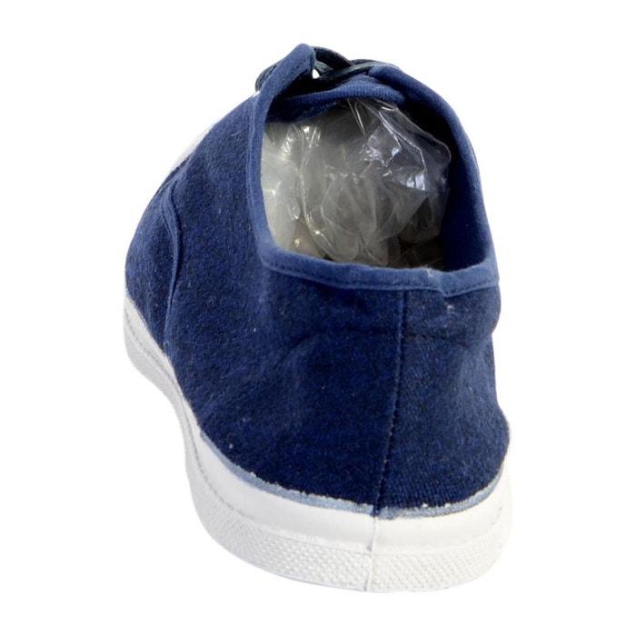 Tennis lacet deperlante marine bleu Bensimon