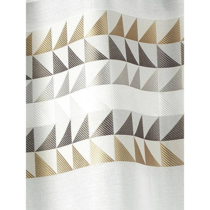 Voilage vitrage en tamine avec parement haut triangles home maison la redoute - La redoute rideaux bonne femme ...