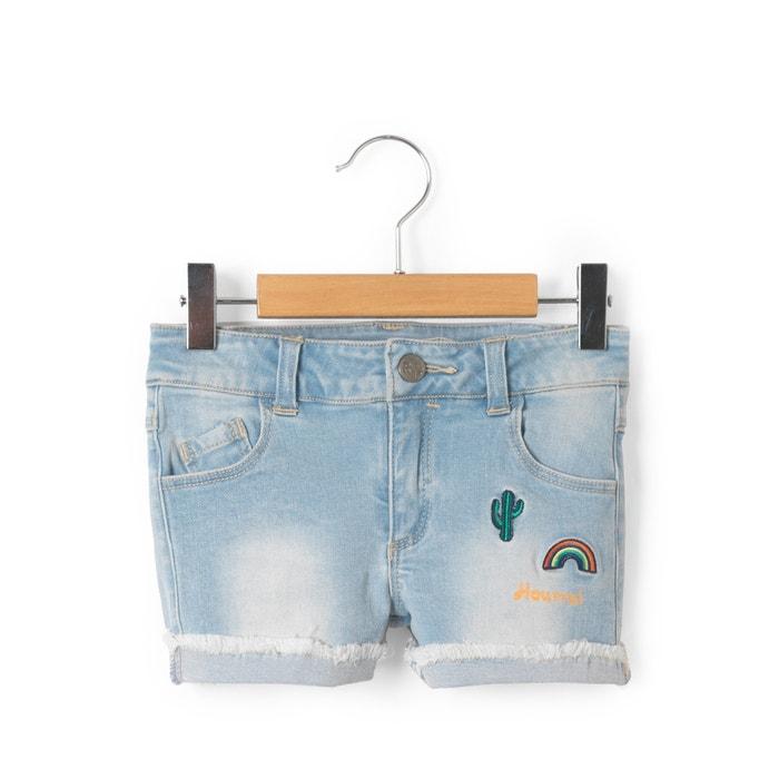 Image Short à patchs en jean 3-12 ans La Redoute Collections