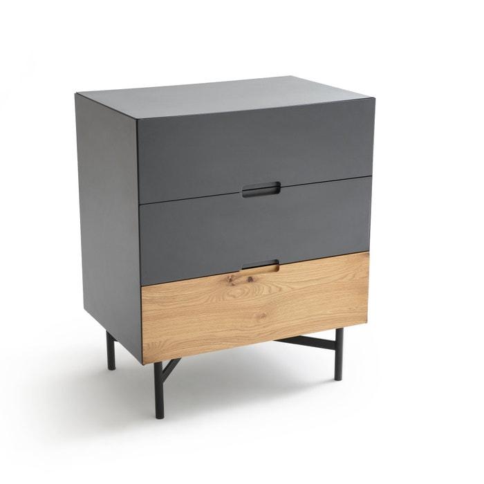 commode 3 tiroirs lora la redoute interieurs gris anthracite la redoute. Black Bedroom Furniture Sets. Home Design Ideas