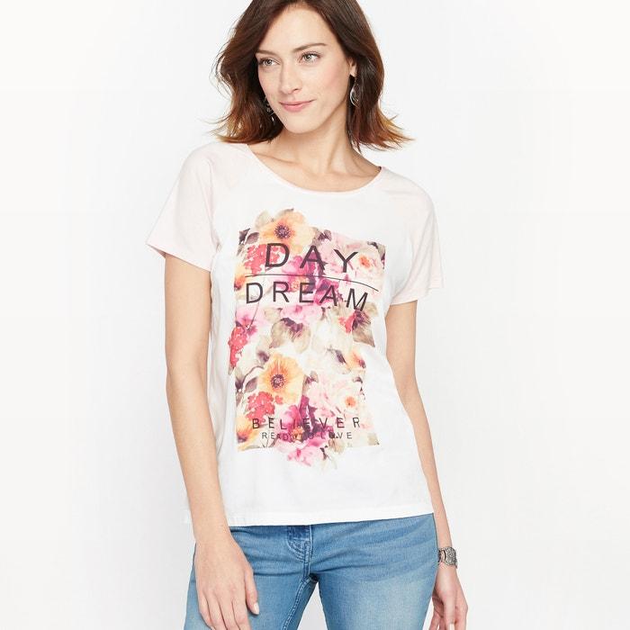 afbeelding T-shirt in twee stoffen ANNE WEYBURN
