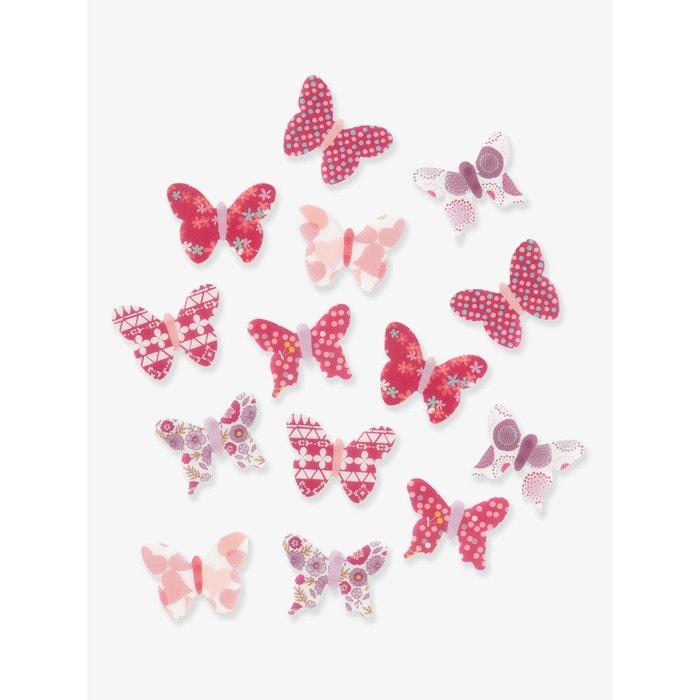 Lot de 14 papillons déco enfant vertbaudet image 0