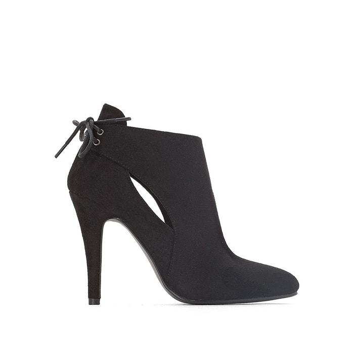 boots ajour es talon aiguille noir mademoiselle r la redoute. Black Bedroom Furniture Sets. Home Design Ideas