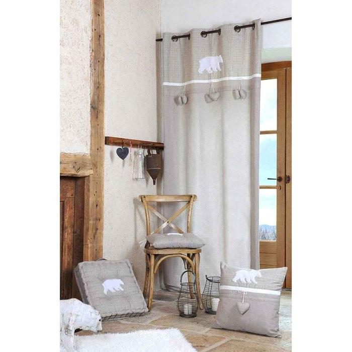 rideau ours polaire lin home maison la redoute. Black Bedroom Furniture Sets. Home Design Ideas
