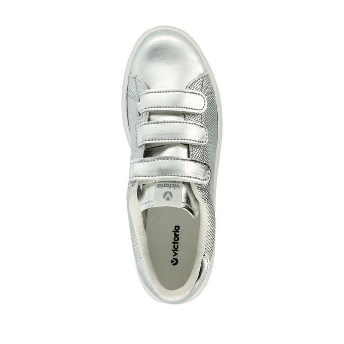 Chaussures deportivo velcros metal plata w gris Victoria