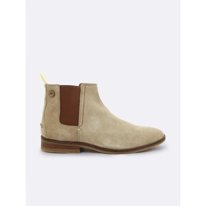 Chelsea boot cork suede beige Faguo