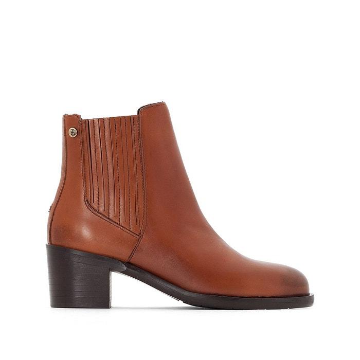 Boots cuir parson cognac Tommy Hilfiger Prix Pas Cher En Ligne boutique Acheter La Vente En Ligne Images Footlocker En Ligne Meilleure Vente K8PCjhKMMA