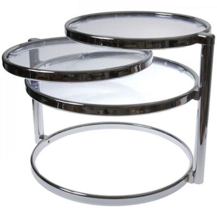 Table basse design verre trois plateaux incolore Present Time   La Redoute d06c750b9739