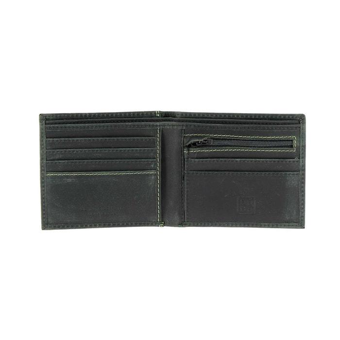 e2528b10d1 Portefeuille pour homme vintage en cuir véritable à l'aspect vieilli avec  porte-monnaie