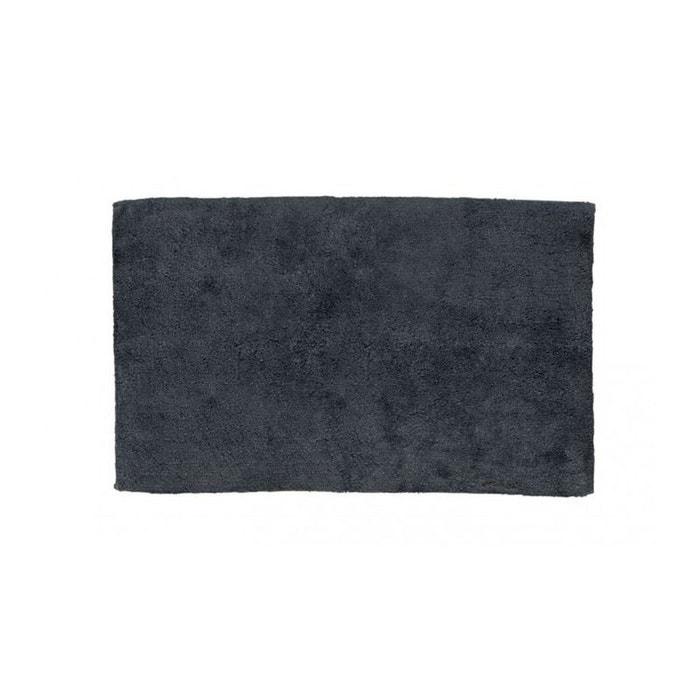 Tapis de bain rectangulaire 100 coton uni gris 1775g - La redoute tapis salle de bain ...