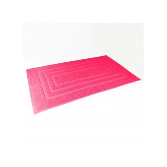 Tapis de bain 50x85 cm uni en eponge fuchsia home bain la redoute - Redoute tapis de bain ...