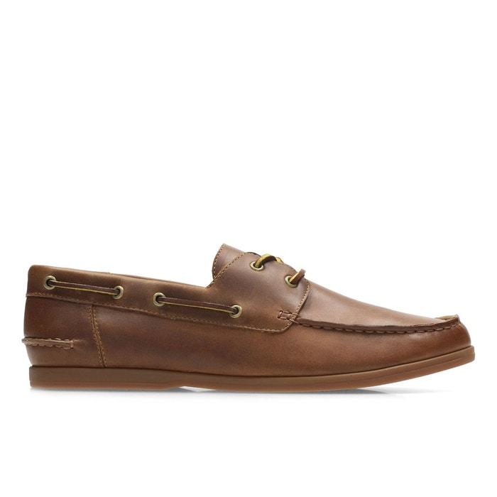 Chaussures bateau cuir morven sail tan Clarks