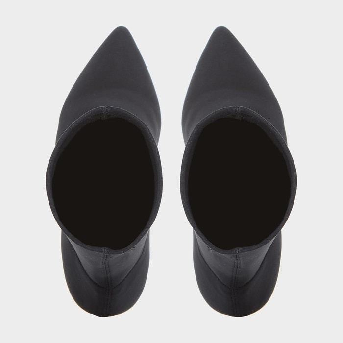 Bottines ajustées en néoprène stretch - oksanah noir tissu Dune Black
