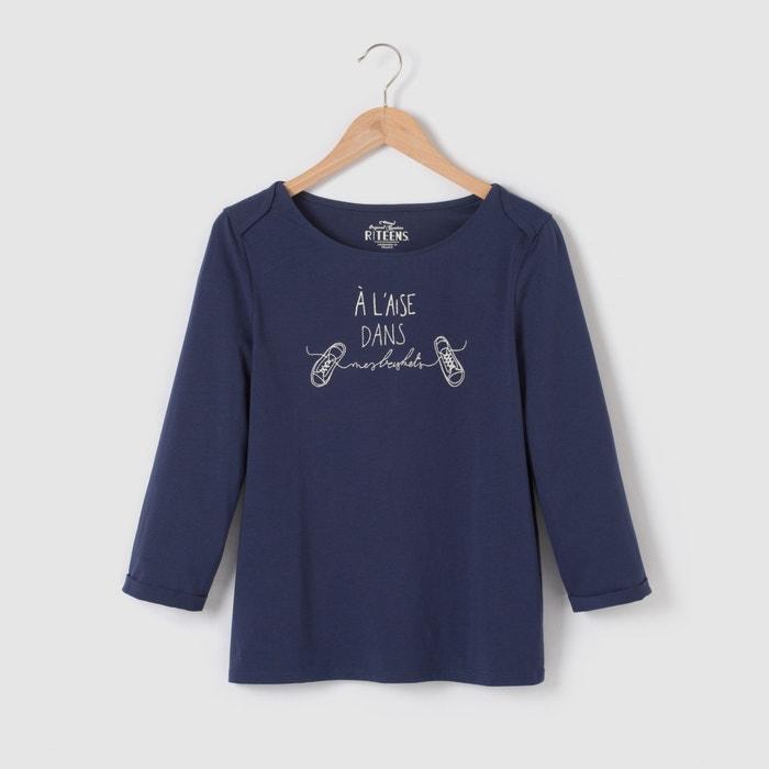 Image T-shirt manches 3/4 imprimé 10-16 ans R pop
