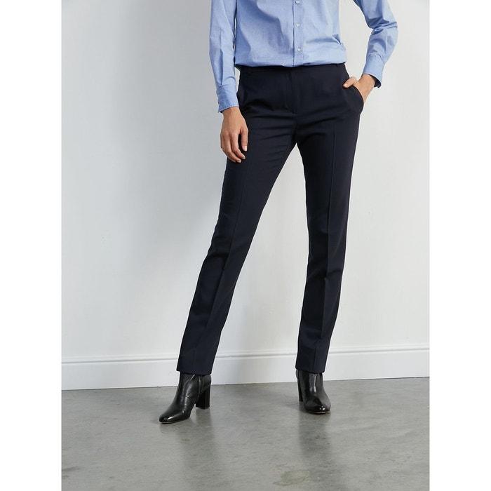 84f48d95bfd6d Pantalon cigarette long femme bleu Cyrillus   La Redoute