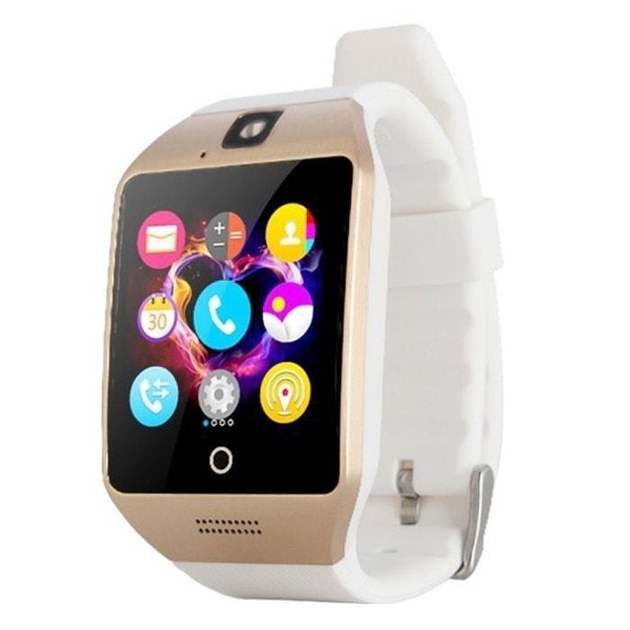 Smart Watch Phone Android Bracelet Connecté montre téléphone Or Yonis image  0