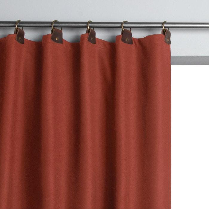 rideau lainage passants cuir nelson rouille am pm en. Black Bedroom Furniture Sets. Home Design Ideas