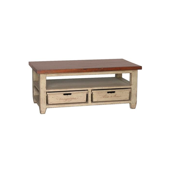 table basse beige interior s la redoute. Black Bedroom Furniture Sets. Home Design Ideas
