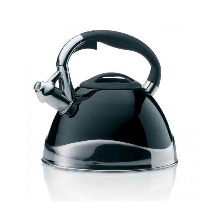 bouilloire a sifflet en acier inoxydable noir 3l noir wadiga la redoute. Black Bedroom Furniture Sets. Home Design Ideas