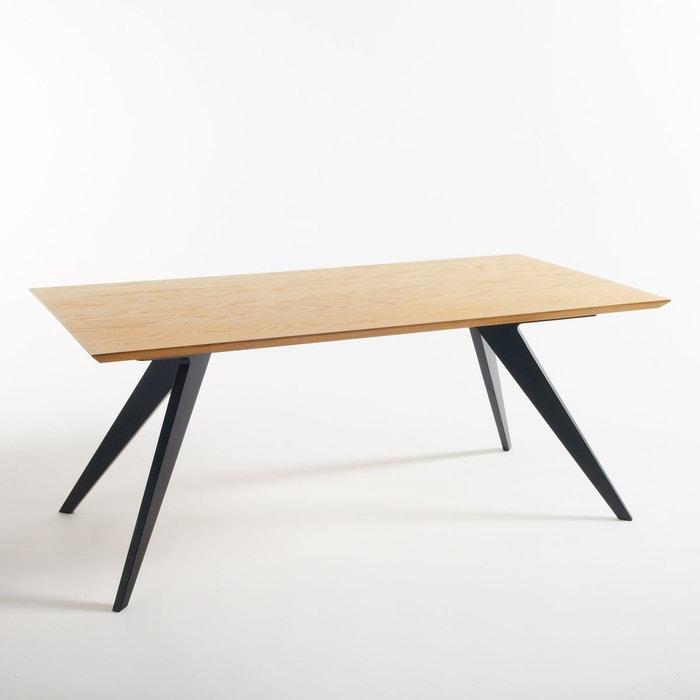Table repas 6 8 couverts biface noir la redoute interieurs la redoute - Table haute la redoute ...