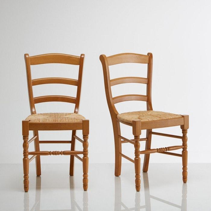 chaises h tre massif lot de 2 authentic style la redoute interieurs la redoute. Black Bedroom Furniture Sets. Home Design Ideas