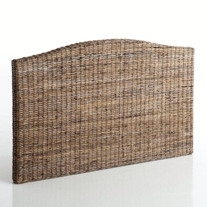 t te de lit 2 personnes kubu tress malu gris la redoute. Black Bedroom Furniture Sets. Home Design Ideas