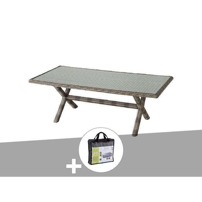 Table de jardin hespéride rectangle en résine tressée betong 8 ...