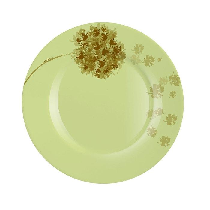 assiette dessert verte motif fleurs 19 cm stella vert luminarc la redoute. Black Bedroom Furniture Sets. Home Design Ideas