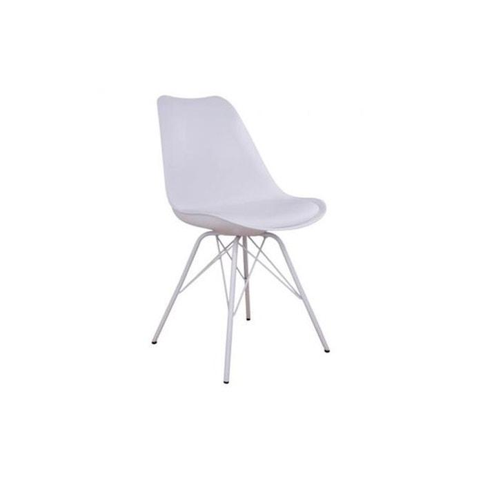 Chaise Design Blanche Kiryan Blanc Declikdeco