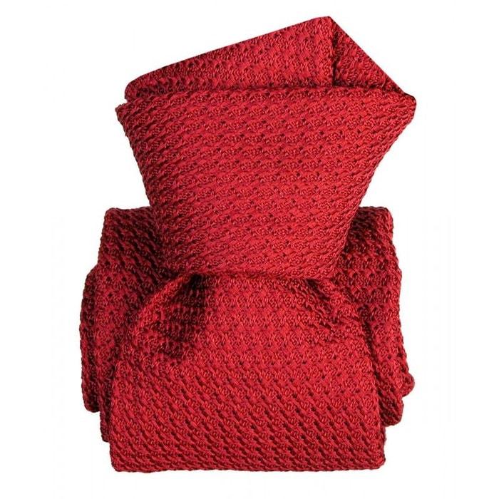 Cravate grenadine de soie, segni & disegni, beverly rosso rouge Segni Et Disegni | La Redoute