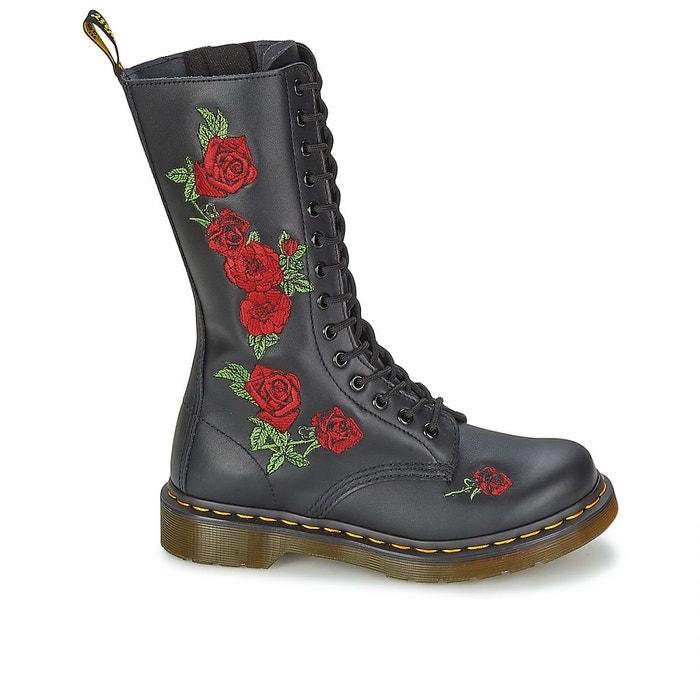 Bottes Vonda Black Roses W h17 DR MARTENS