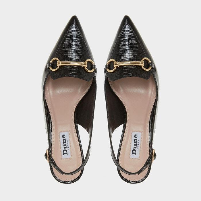 102f061e6041b ... Chaussures à talon bobine et bout pointu avec bride arrière - chile  Dune London ...