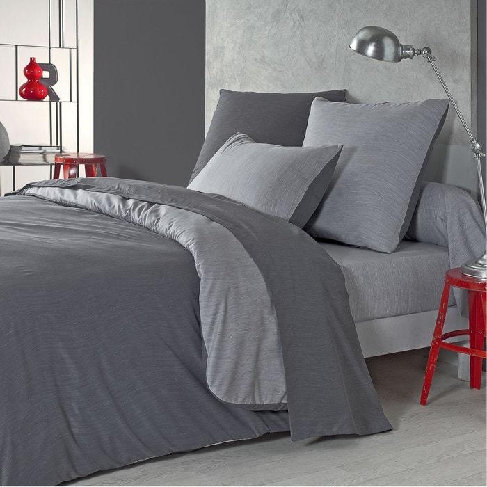 taie d 39 oreiller vague en microfibre ciment perle ciment perle origin la redoute. Black Bedroom Furniture Sets. Home Design Ideas
