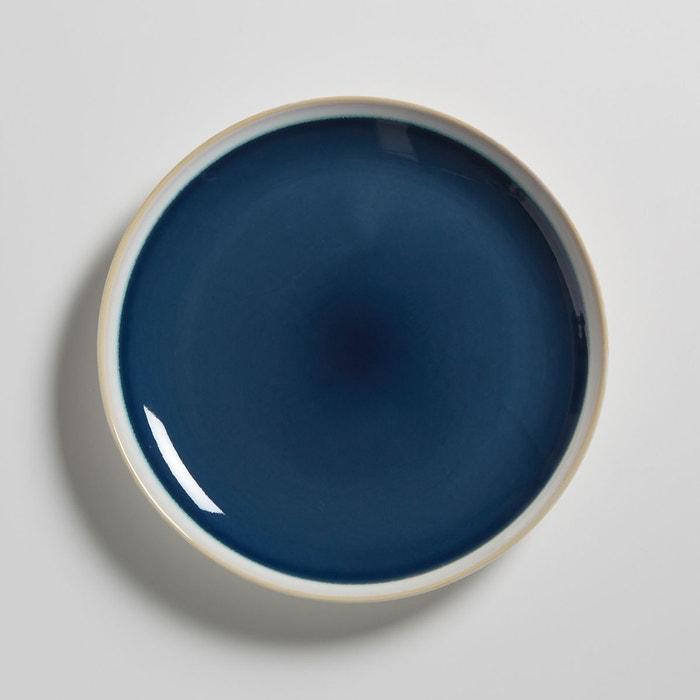 lot 4 assiettes dessert en gr s deonie bleu la redoute interieurs la redoute. Black Bedroom Furniture Sets. Home Design Ideas