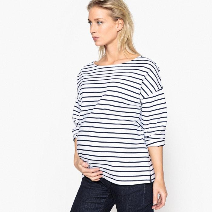 c56335977 Sudadera de estilo marinero para embarazo rayas La Redoute Maternité ...