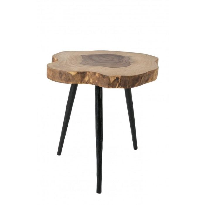 Table basse d'appoint bois et métal Clay ZUIVER