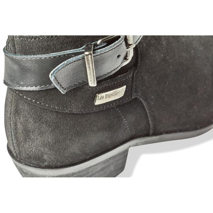 Boots cuir topaze noir Les Tropeziennes Par M Belarbi