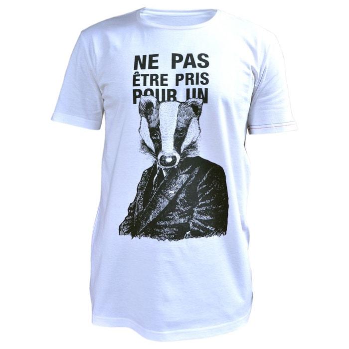 T-Shirt homme style imprimé Blaireau PHILEMON