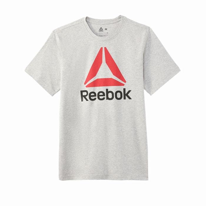 manga corta delante cuello con Camiseta y redondo de estampado REEBOK HvFqaH