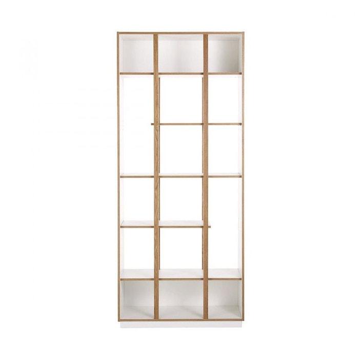 Biblioth que design h210 cm newbury blanc woodman la redoute - La redoute bibliotheque ...