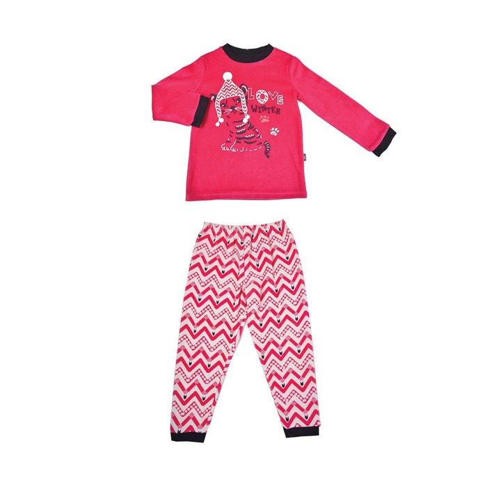 pyjama fille manches longues love winter multicolore petit beguin la redoute. Black Bedroom Furniture Sets. Home Design Ideas