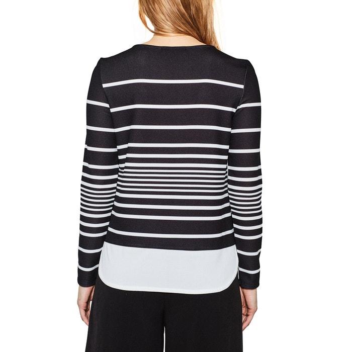 con cuello Camiseta ESPRIT larga manga redondo de 6pZq7