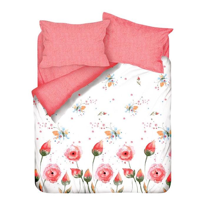 parure de lit veronaki coton 57 fils rouge i fil home la redoute. Black Bedroom Furniture Sets. Home Design Ideas