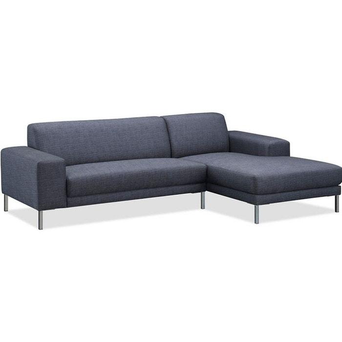 canap d 39 angle eliott grey angle droite vue de face gris delorm la redoute. Black Bedroom Furniture Sets. Home Design Ideas