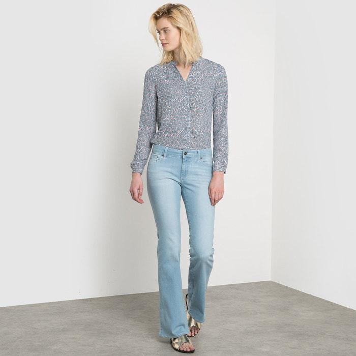 Image 5-Pocket Flared Regular Waist Stretch Denim Jeans R essentiel