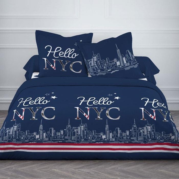 parure de lit 3 pi ces new york 140 x 200 cm avec drap housse couleur unique lefranc bourgeois. Black Bedroom Furniture Sets. Home Design Ideas