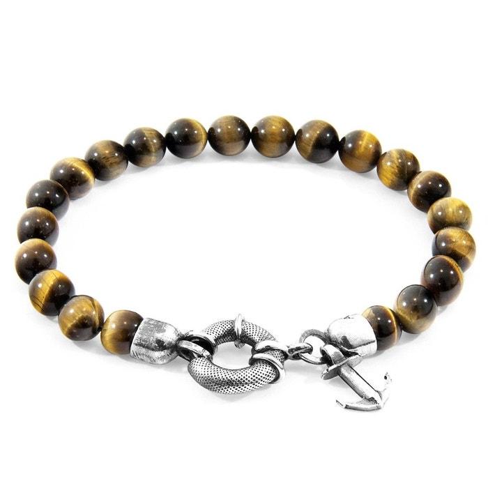 Bracelet port argent et pierre tigre marron Anchor & Crew | La Redoute Achats Vente De Vente En Ligne Vente Style De Mode ezhLV1