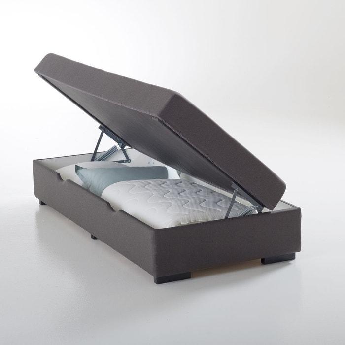 lit coffre avec matelas et sur matelas teyo gris fonc la redoute interieurs la redoute. Black Bedroom Furniture Sets. Home Design Ideas